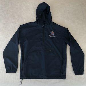 Men's Medium Navy Blue windbreaker quarter zip up